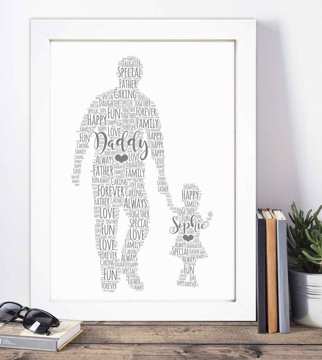 Personalised Father Child Word Art Print