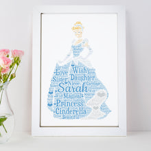 Personalised Cinderella Word Art Print