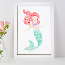 Personalised Ariel Word Art Print