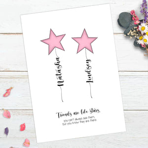 Personalised Friends Are Like Stars Print