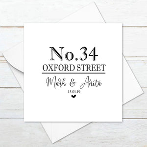 Personalised House Street Name Card
