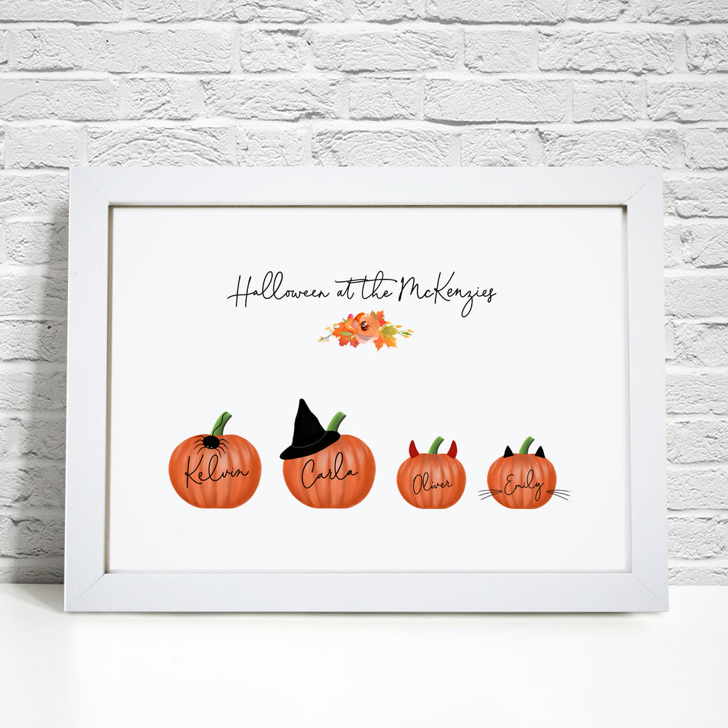 Personalised Family Pumpkin Print