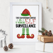 Personalised Elf Surveillance Print
