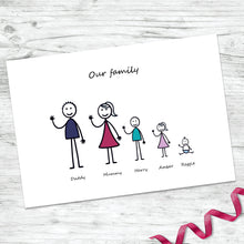 Personalised My Stick Family Print