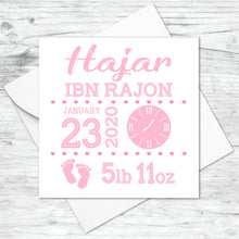 Personalised New Baby Christening Girl Boy Card