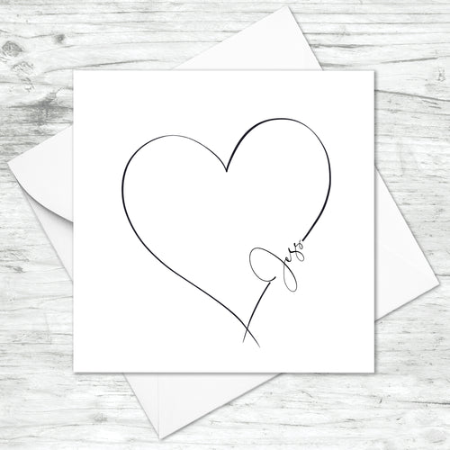 Personalised Heart Card
