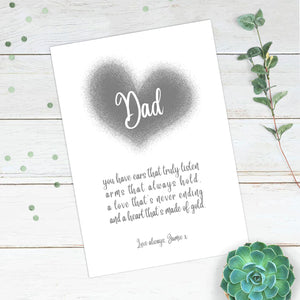 Personalised Like A Dad Heart Print