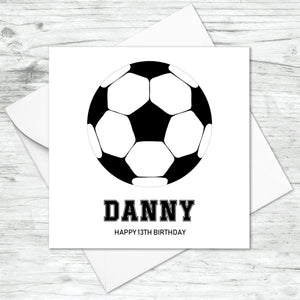 Personalised Football Card