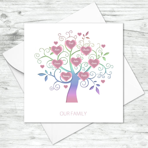 Personalised Family Tree Card