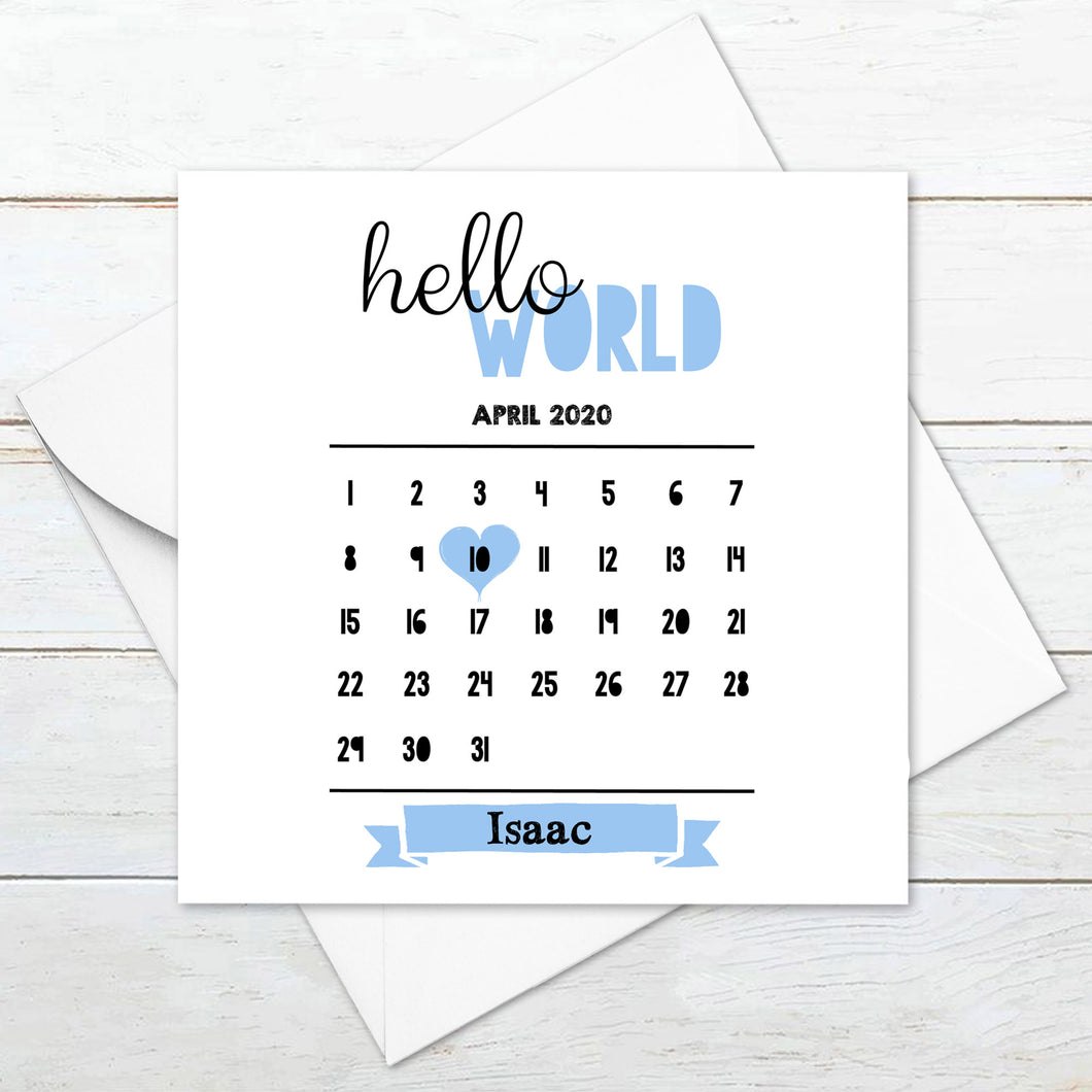 Personalised Hello World Card