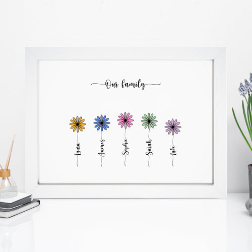 Personalised Family Flower Print