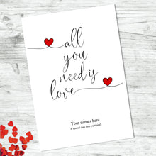 Personalised All You Need Is Love Print