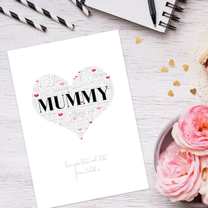 Personalised Mummy Word Art Print