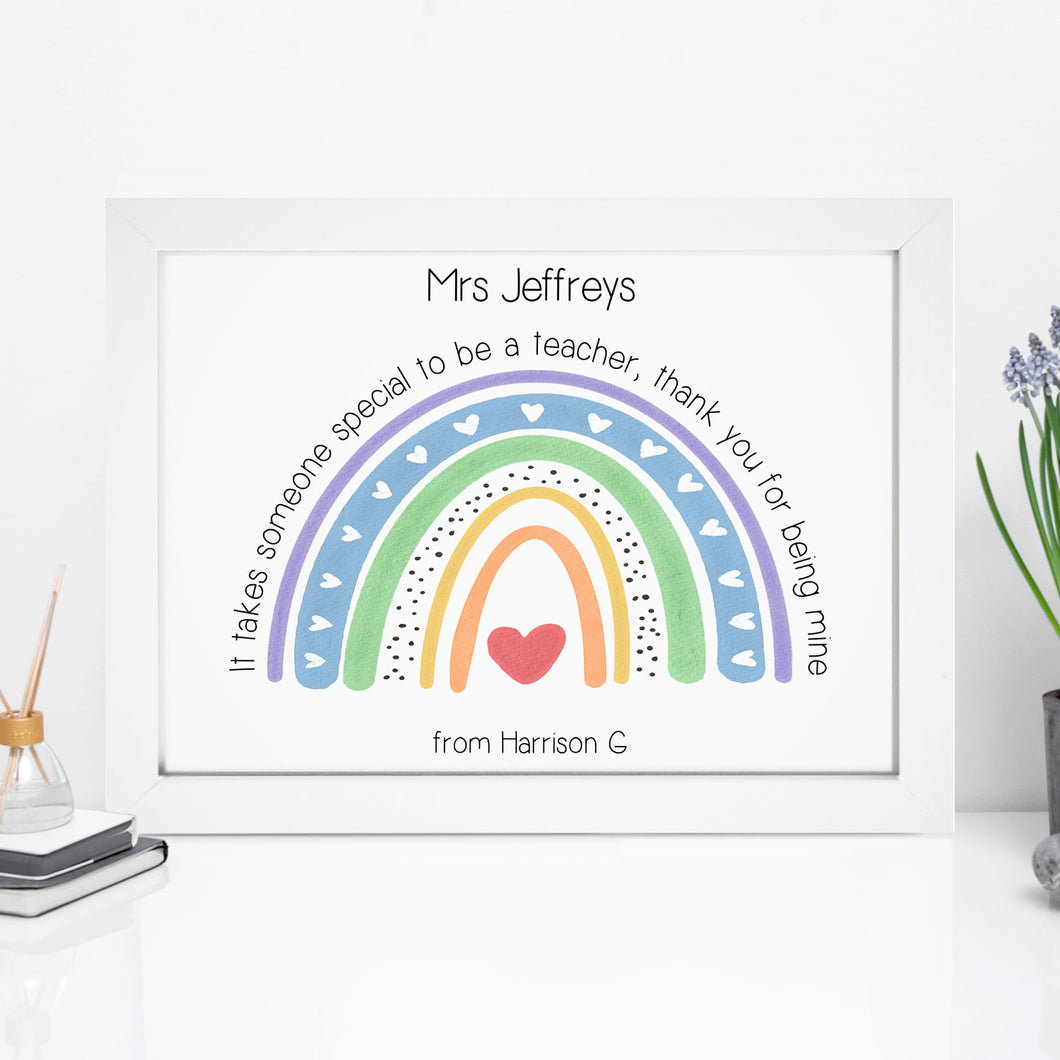 Personalised Special Teacher Print