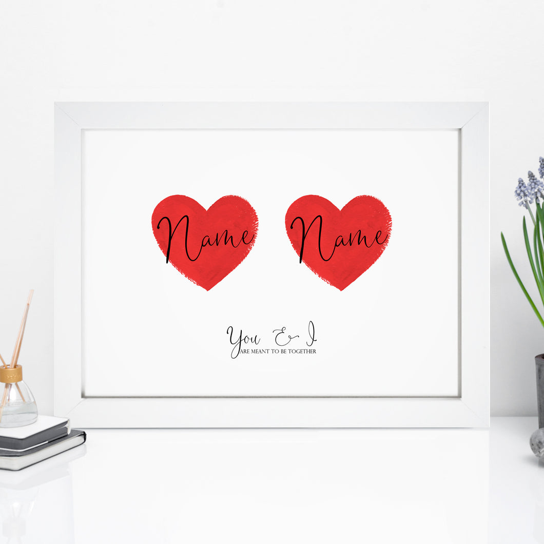 Personalised Love Heart Print