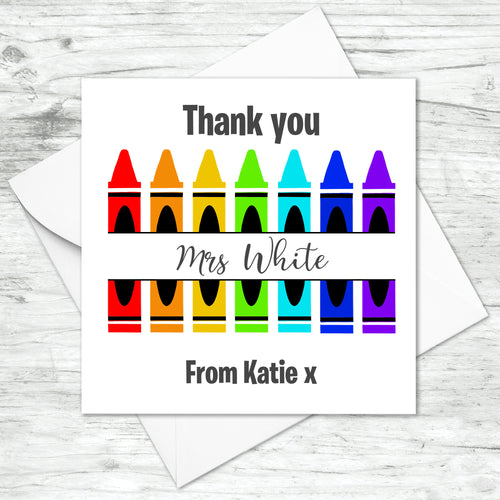 Personalised Thank You Teacher Bee Card