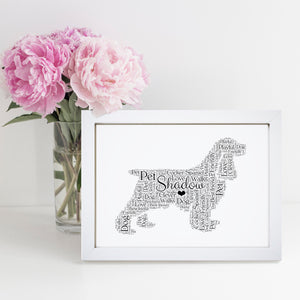 Personalised Cocker Spaniel Word Art Print