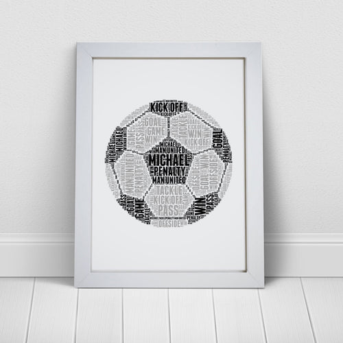 Personalised Football Word Art Print