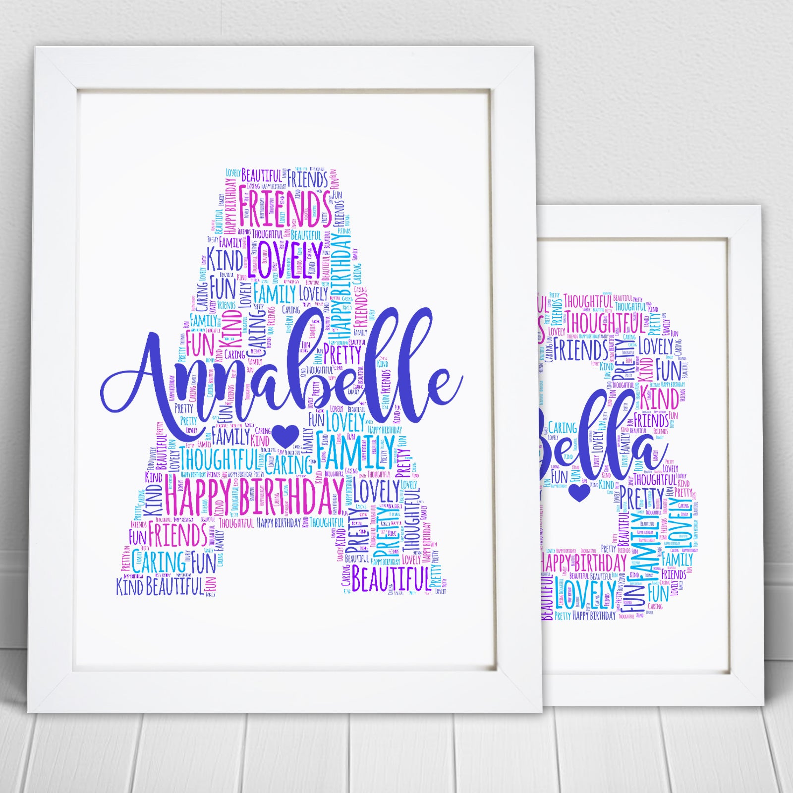Personalised Letter Name Initial Word Art Print – Violet Grace