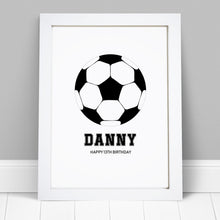Personalised Football Print