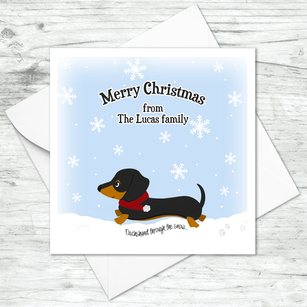 Personalised Dachshund Christmas Card