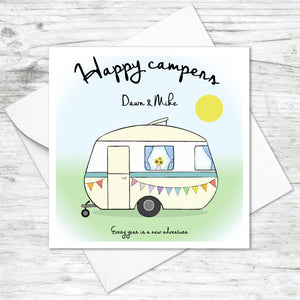 Personalised Happy Campers Card