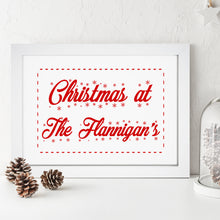 Personalised Christmas Family Print