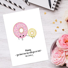 Personalised Donut Know How Much You're Loved Print