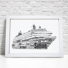 Personalised Cruise Ship Word Art Print