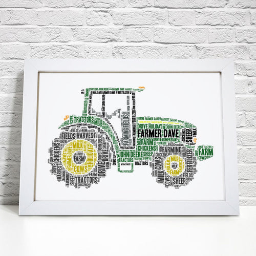 Personalised Farm Tractor Word Art Print