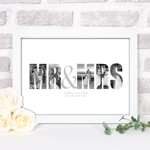 Personalised Mr & Mrs Photograph Print