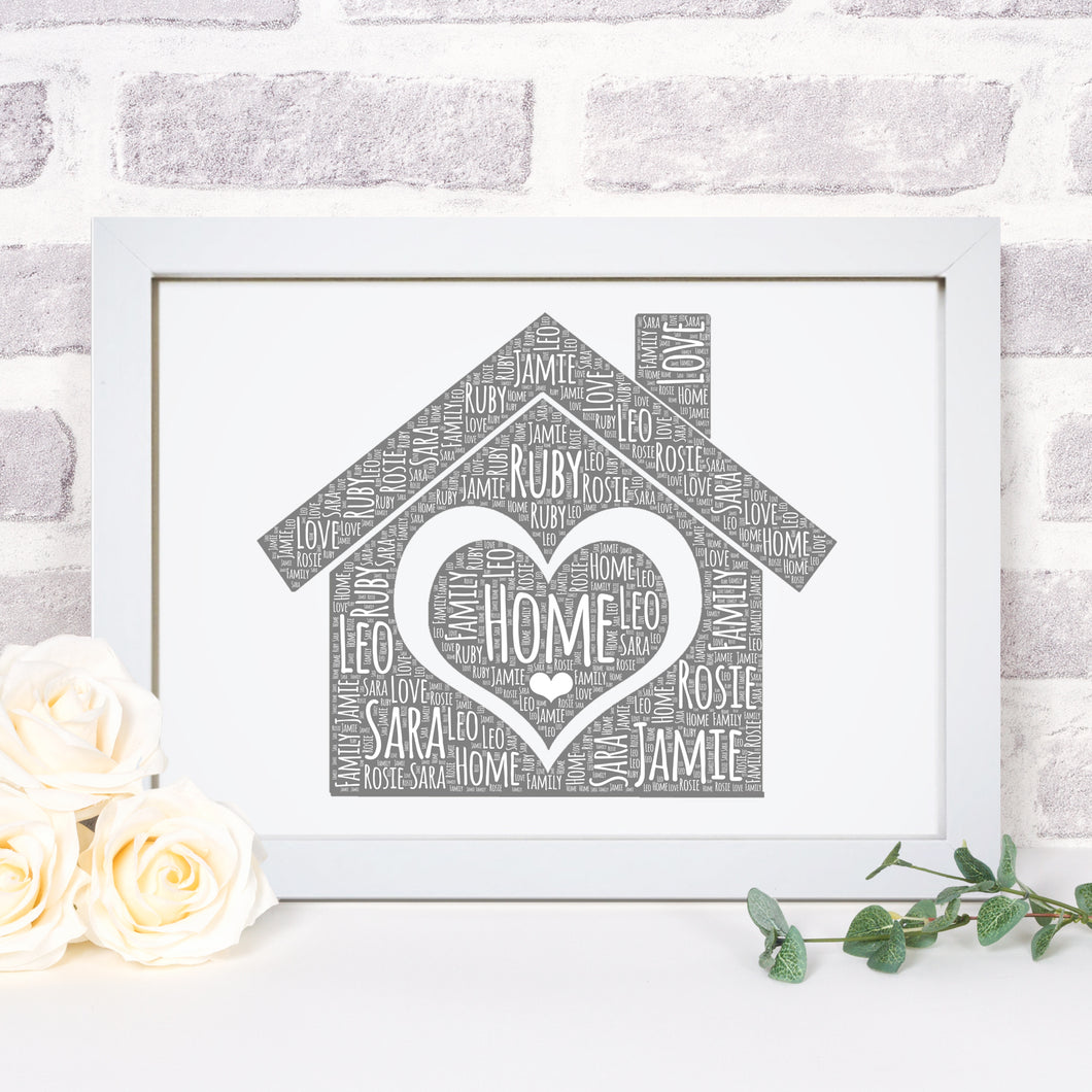 Personalised Home Word Art Print