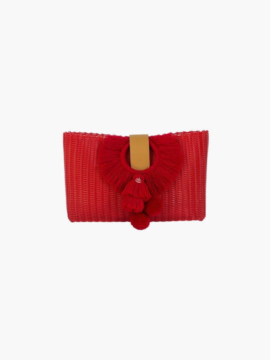 Tonati Oversized Clutch | Red