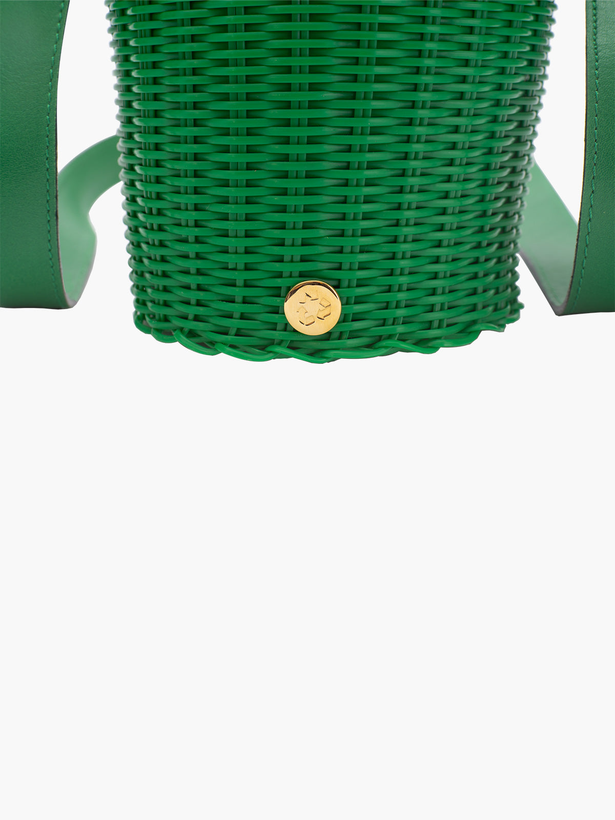 Tonati Woven Leather Bucket | Green Tonati Woven Leather Bucket | Green