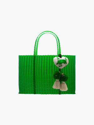 Otomi Beach Tote XL | Green Otomi Beach Tote XL | Green