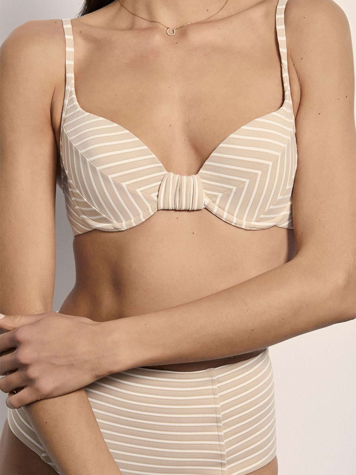 Exclusive Béatrice Top | Nude Stripe Exclusive Béatrice Top | Nude Stripe