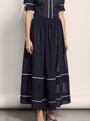 Delphine Skirt | Navy Delphine Skirt | Navy