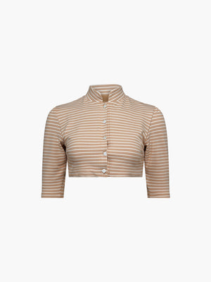 Exclusive Gigi Cardigan | Nude Stripe Exclusive Gigi Cardigan | Nude Stripe