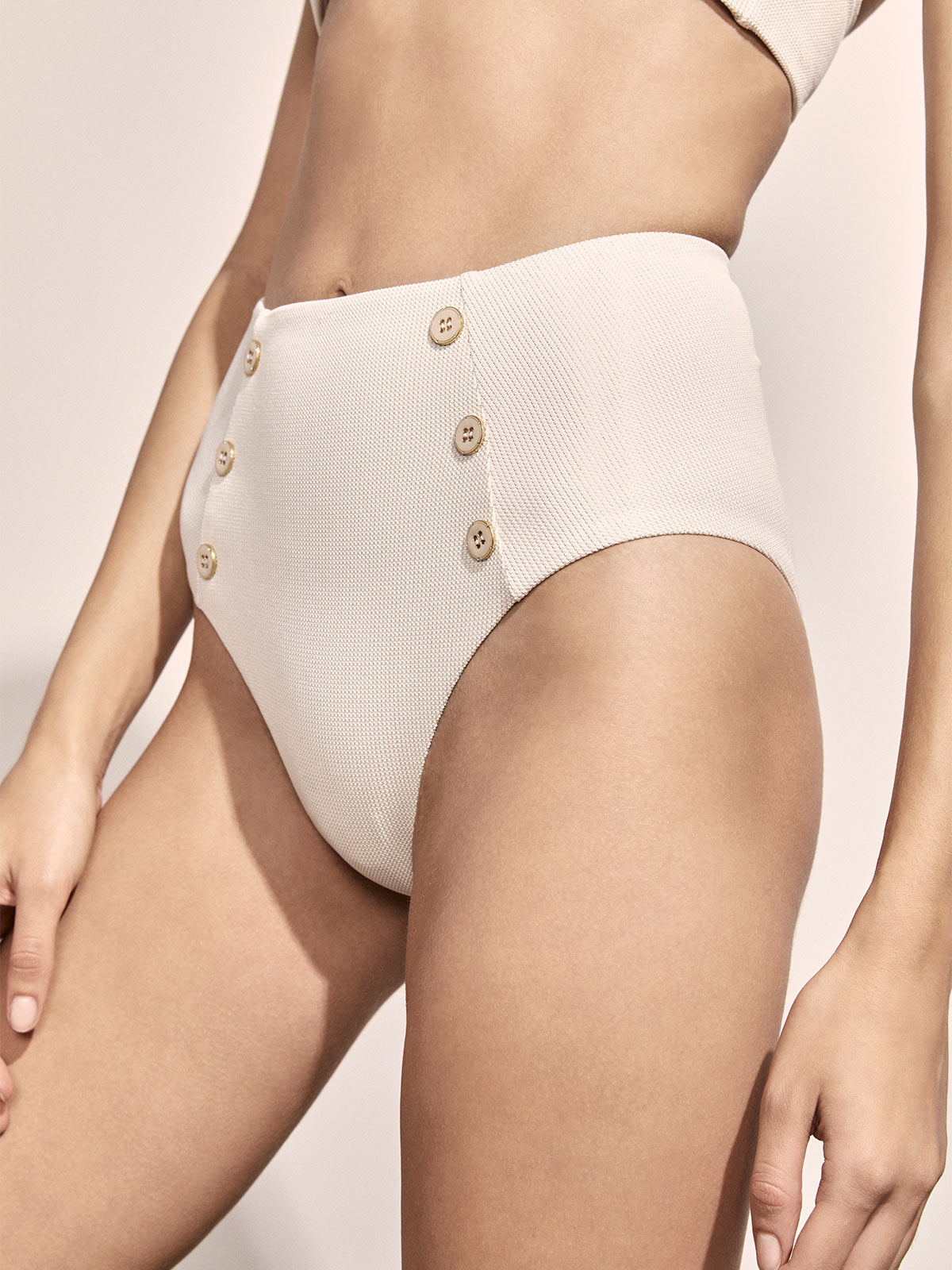Tallis Bottoms | Ivory/Gold