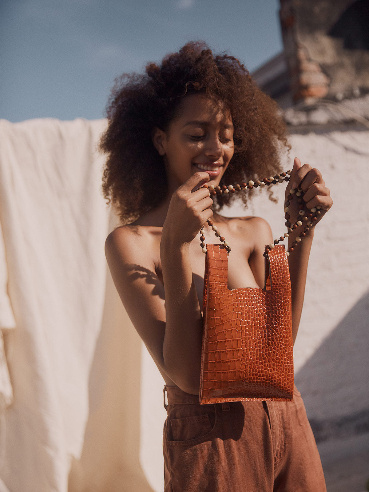 Mini Xala Bag | Croc Orange