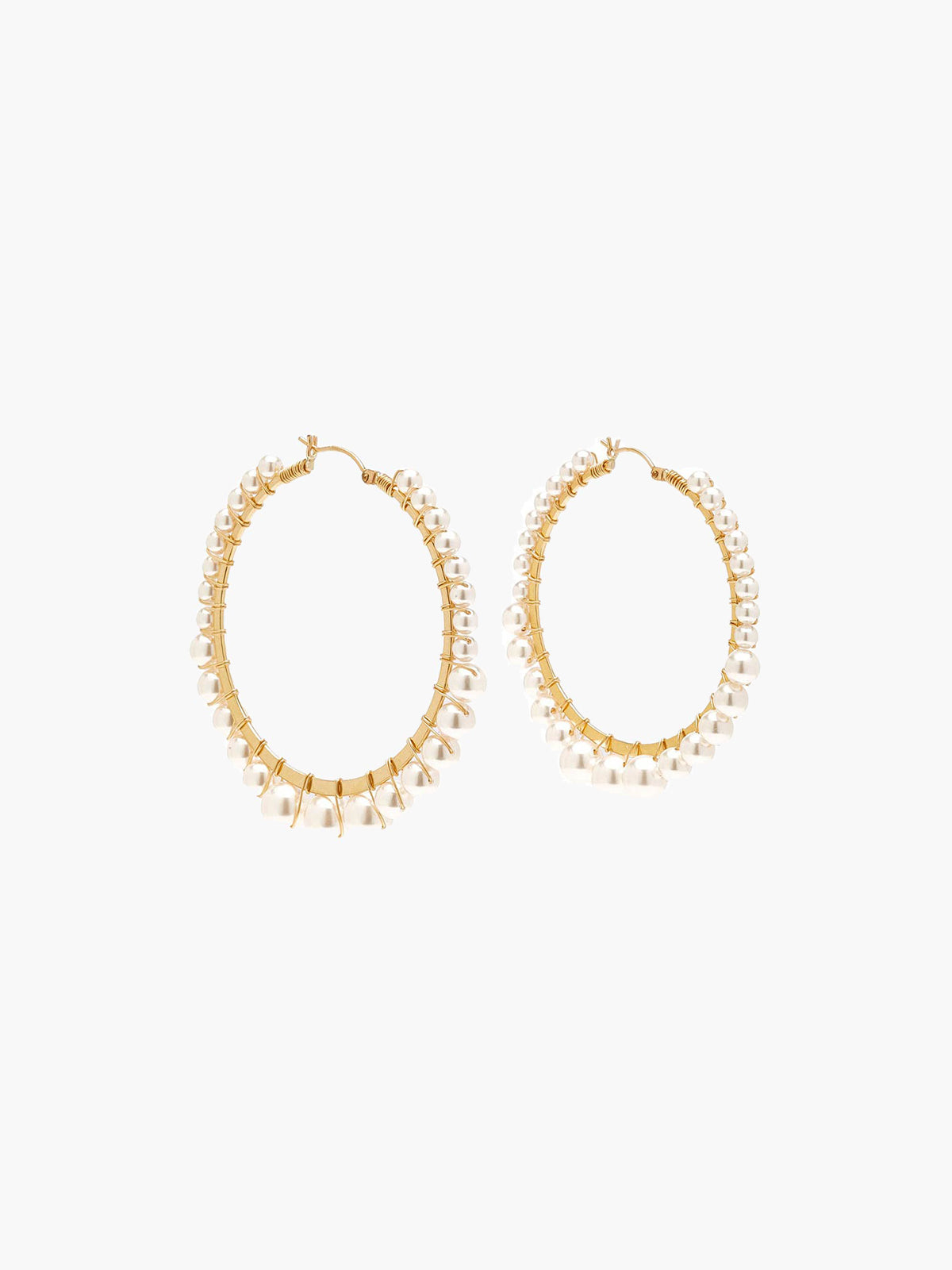 Medium Bella Hoops Pearl