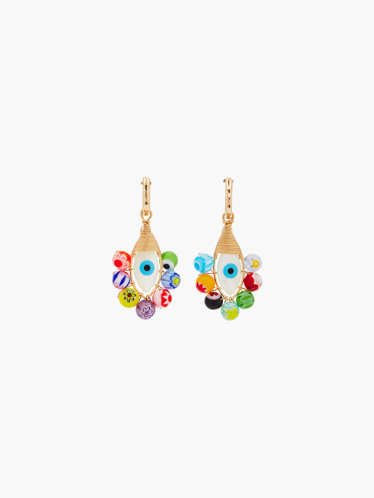 Evil Eye Hoops | Millefiori