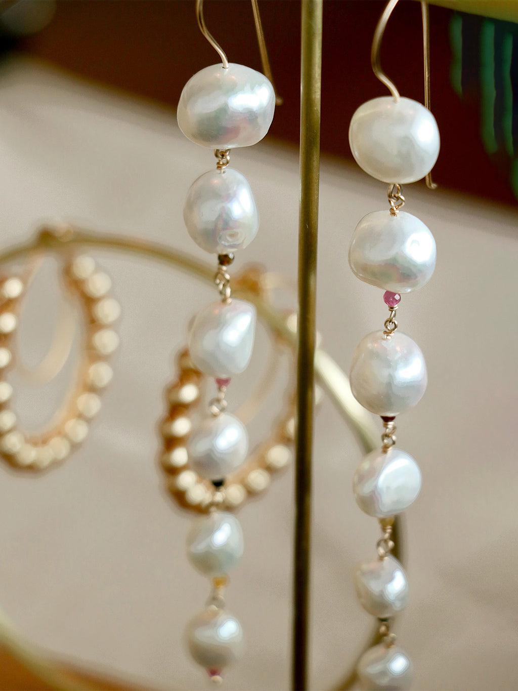 Venus Pearl Cascading Earrings
