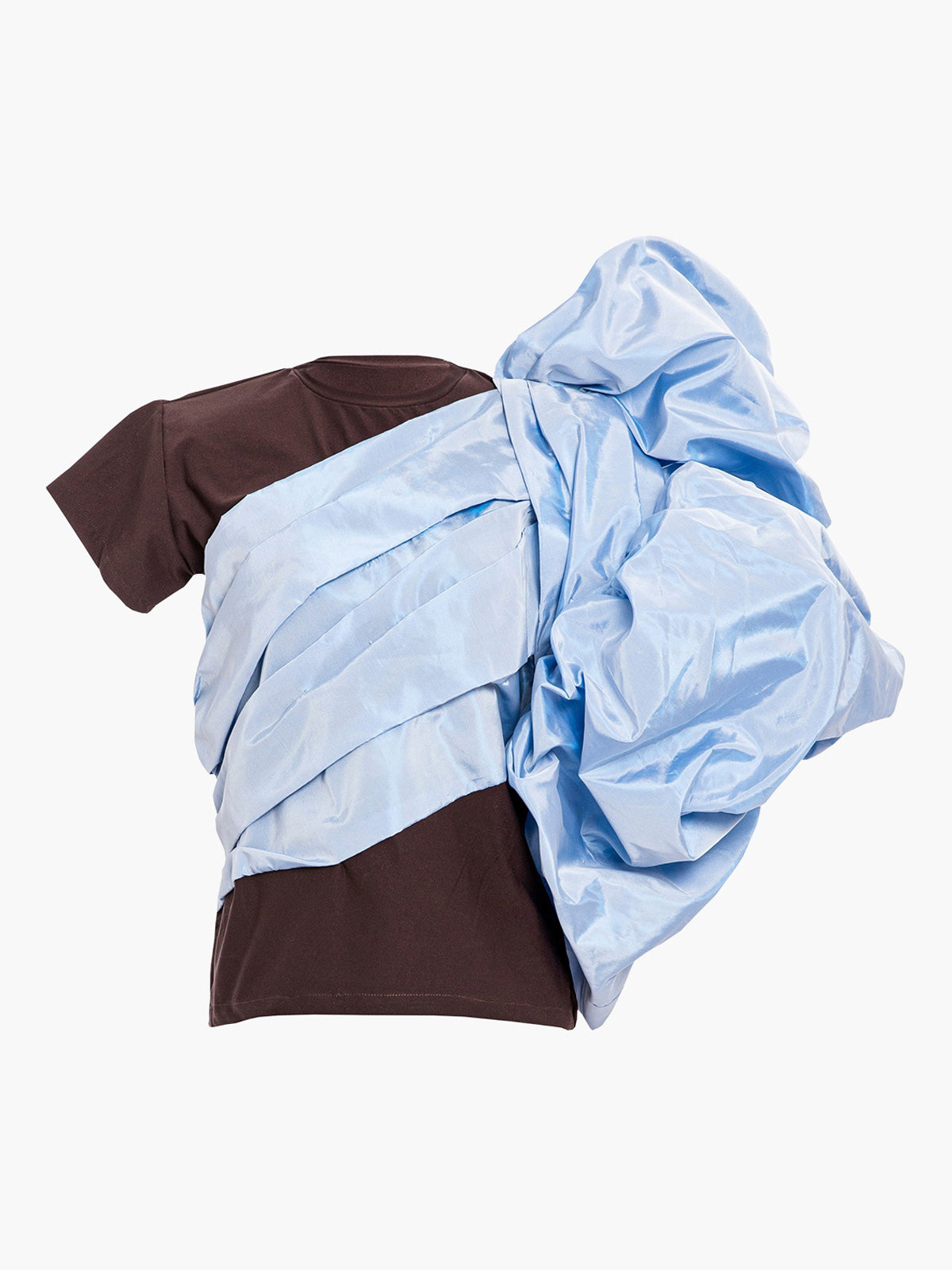Abolengo T-Shirt | Brown With Blue