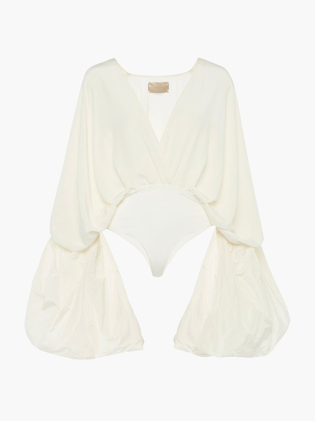 Aura Draped Silk Bodysuit