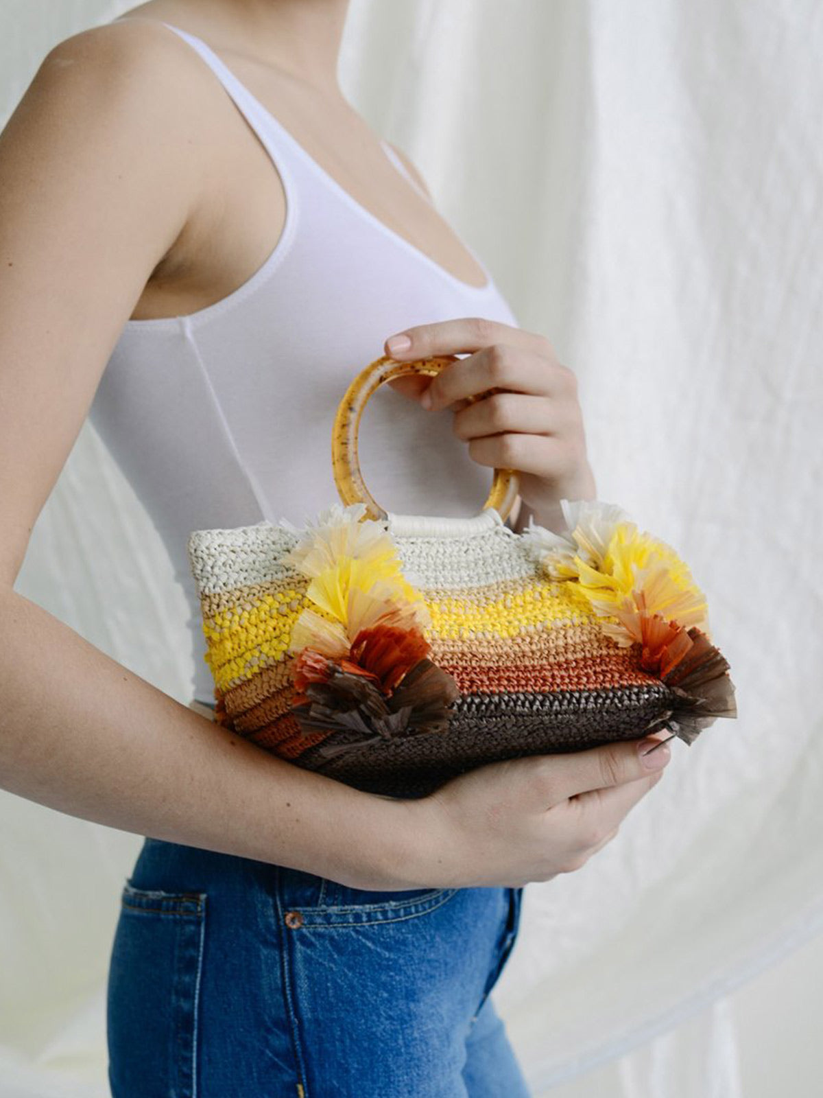 Corallina Handbag | Yellow Natural