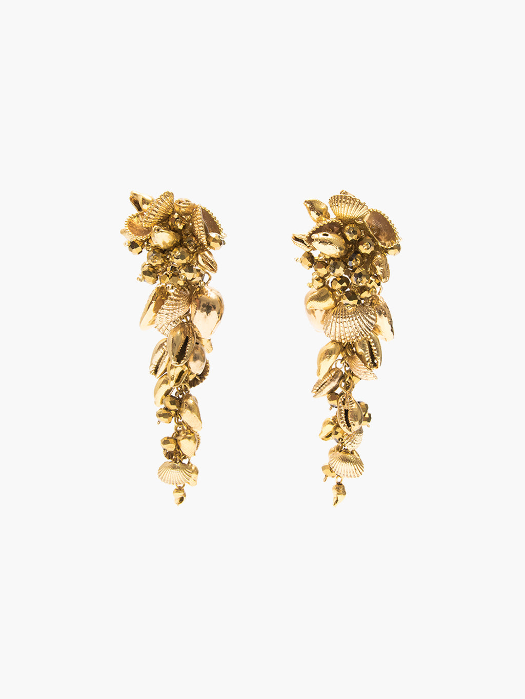 Gold Seashell Drop Earrings