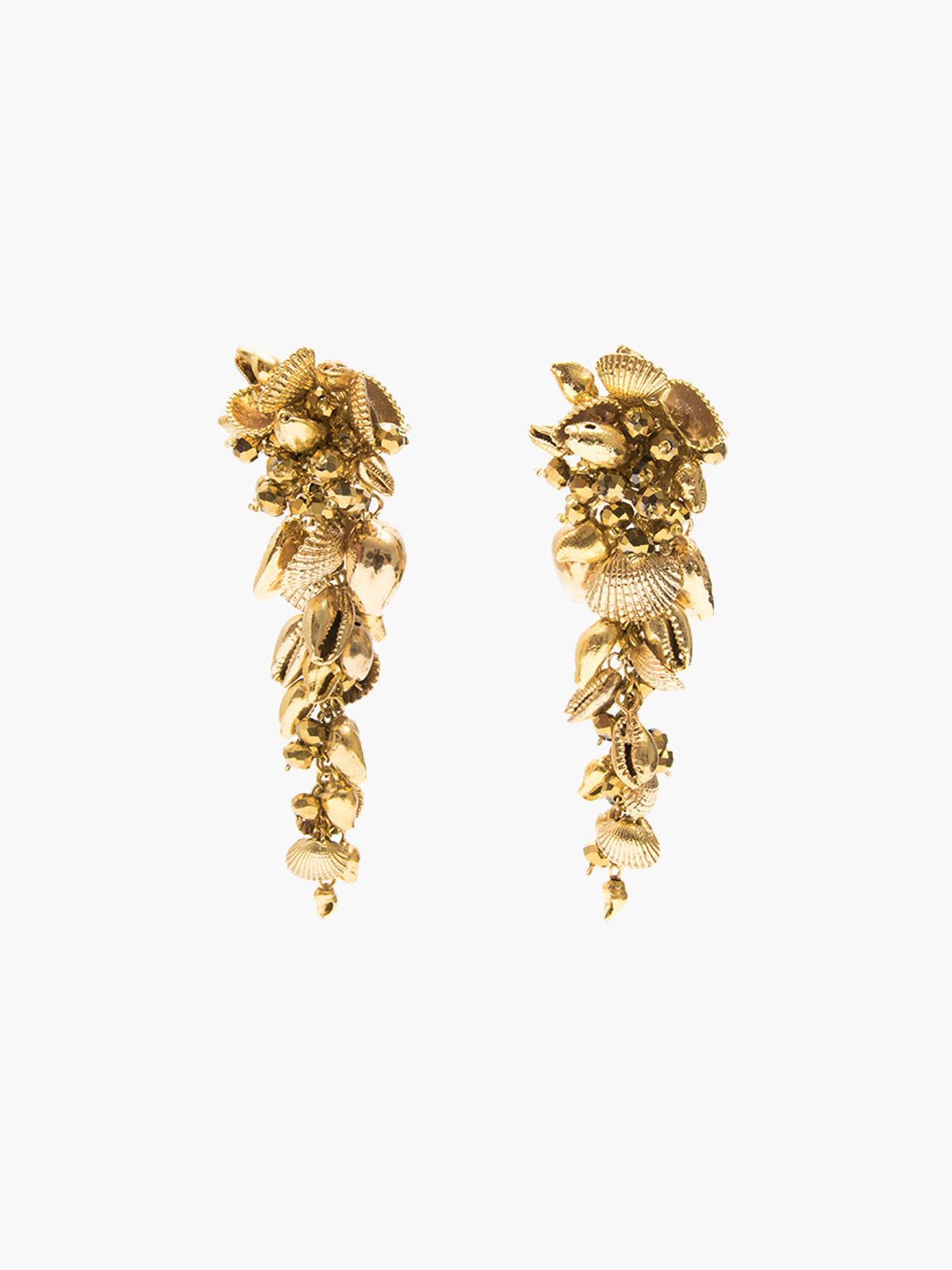 Gold Seashell Drop Earrings Gold Seashell Drop Earrings