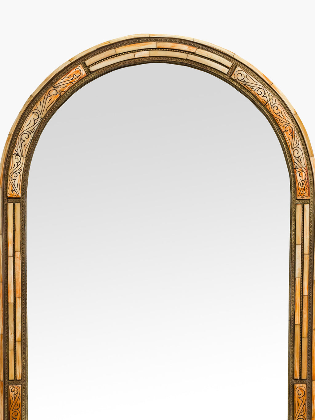 Golden Arch Shaped Metal Mirror