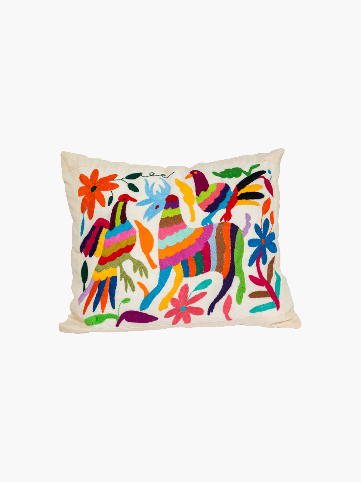 Hand-Embroidered Otomi Cushion | I